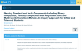 Naming Covalent and Ionic Compounds Including Binary Compounds, Ternary Compounds with Polyatomic Ions and Multivalent (Transition) Metals: An Inquiry Approach for Gifted and Talented Students