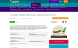 10  Little Rubber Duckies: Making Sets of 10