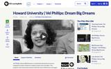 Howard University | Vel Phillips: Dream Big Dreams