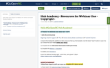 Hub Academy - Resources for Webinar One - Copyright -