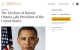 The Election of Barack Obama 44th President of the United States
