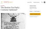 The Boston Tea Party: Costume Optional?