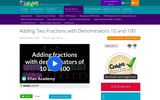 Adding Two Fractions with Denominators 10 and 100